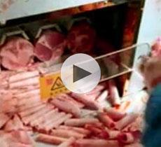 冻牛羊肉卷批发专用无需缓冻即可切片视频
