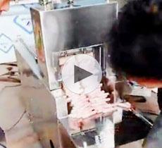 2卷数控羊肉切片机客户来厂试机视频